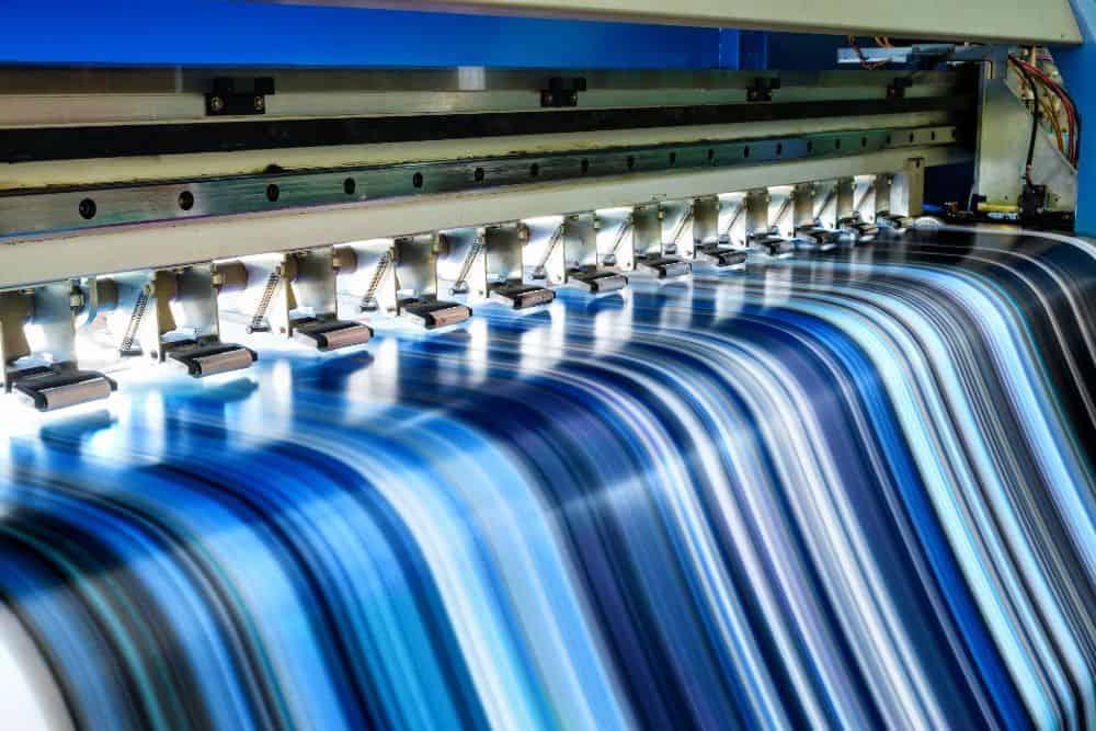 Impresión de lona azul